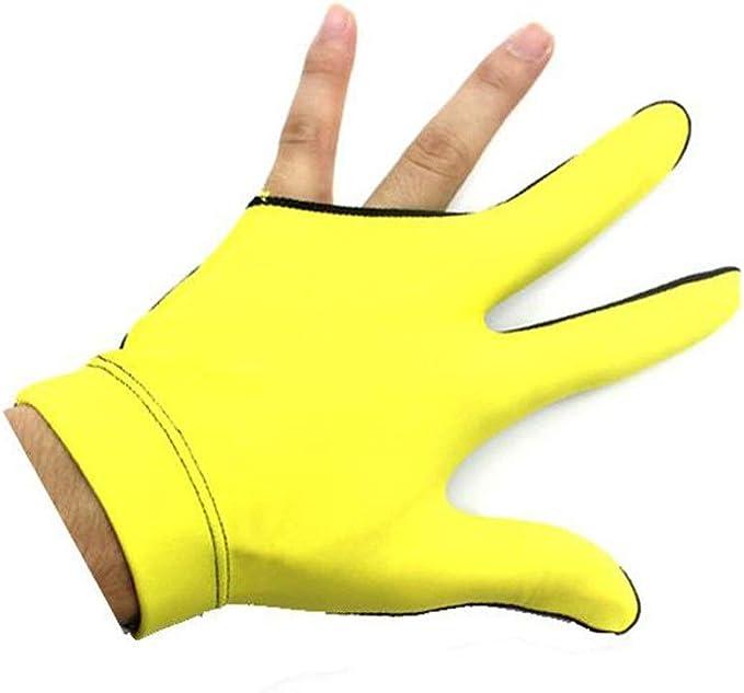 Guantes de taco de billar de 3 dedos 1 pieza de accesorios de ...