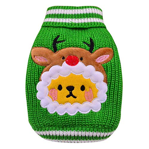 fogohill Festival Doggy Christmas Clothes Puppy Cat Knit Sweater Pet Costumes Dog Coat Apparel Red Medium]()