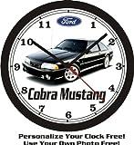 mustang car clock - 1993 FORD MUSTANG COBRA WALL CLOCK-FREE USA SHIP!