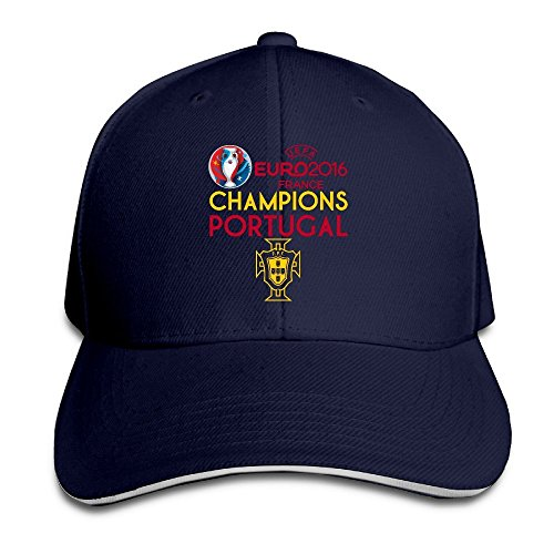 MaNeg Portugal 2016 Soccer Champion Sandwich Peaked Hat & Cap