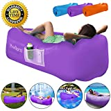 Prodigen Inflatable Lounger Chair, Air Sofa Inflatable Couch Outdoor Anti-Air Leaking Waterproof Portable Inflatable Hammock Air Couch for Pool, Floor, Camping, Beach (Purple)