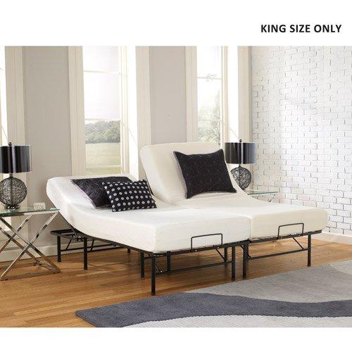 Premier Simple Adjustable Platform Bed Frame, Size: Queen