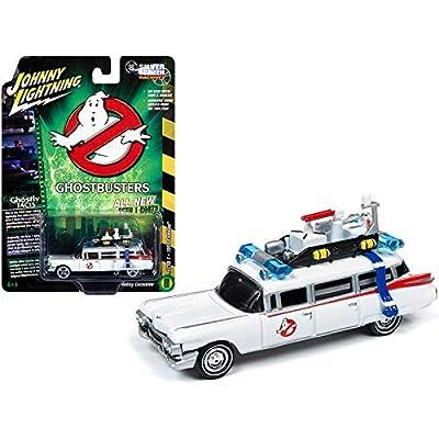 1959 Cadillac Eldorado ECTO-1 Ambulance White Ghostbusters (1984) Movie 1/64 Diecast Model Car by Johnny Lightning JLSS006: Toys & Games