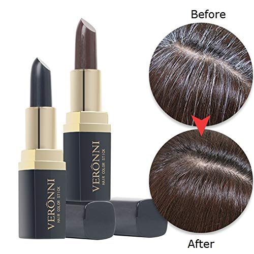 VERONNI Temporary Hair Color Touch-Up Stick Cover Your Gray Hair Color Dye Lipstick Pen for Unisex Hair Color,Root Touch Up Brown 4.5g/0.158OZ (#02 Brown)