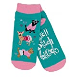 Little Blue House Ladies Ankle Socks - Bitch Bitch Bitch