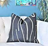 CELYCASY Kelly Wearstler Graffito Pillow Cover Onyx Modern Pillow Designer Geometric Pillow Cover Lee Jofa Groundworks