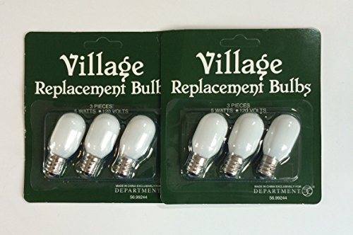 Department 56 Accessories for Department 56 Village Collections Replacement Light Bulb - 2 Pack (6 Bulbs Total)