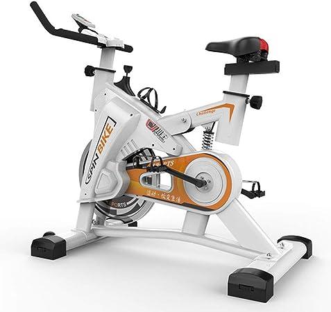 LSYOA Bicicleta Estática estacionario 200 kg Capacidad de Peso Indoor Bicicleta con Digital Monitor y Ajustable Asiento Bicicleta Fitness,White: Amazon.es: Hogar