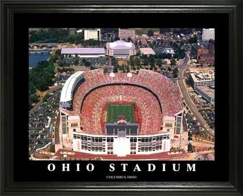 Ohio State Buckeyes - Ohio Stadium Aerial - Lg - Framed Poster Print (Poster Ohio State Photo)