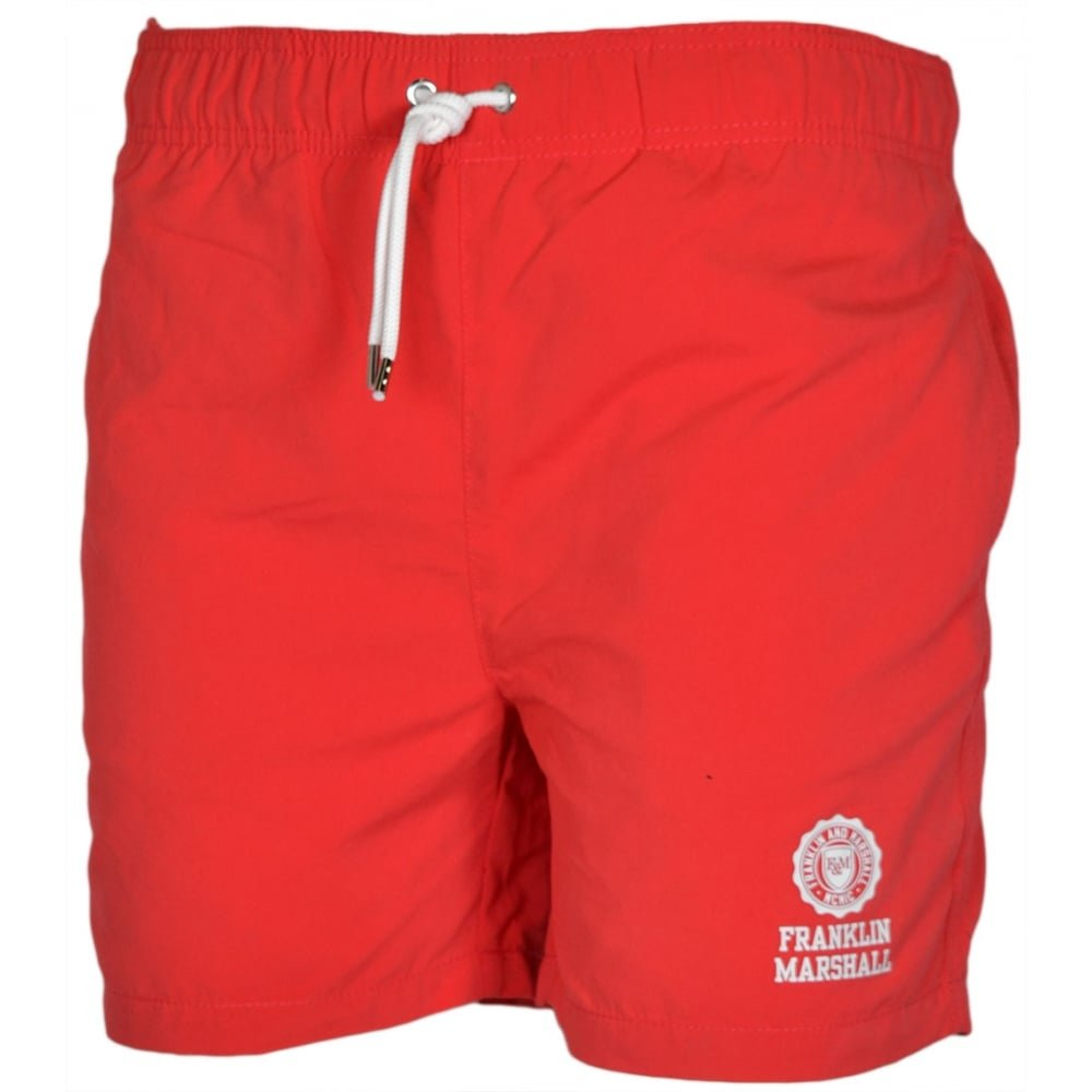 Franklin /& Marshall UA927 Campus Red Swim Shorts