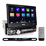 Pyle Car Stereo Receiver System & Backup Camera Kit [Touch-Screen Headunit Stereo Radio] CD/DVD Player | Bluetooth Wireless Streaming | Hands-Free Talking | USB/MP3/AUX/AM/FM Radio | Waterproof Rearview Cam | Single DIN (PLT85BTCM)