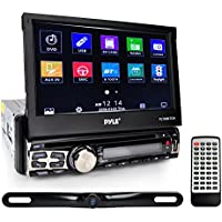 Pyle 7in Single Din Touchscreen Bluetooth Head unit Flip Out Receiver & Backup Camera Kit (Plt85Btcm)