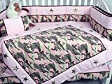SoHo Baby Crib Bedding 10Pc Set, PinkCamo