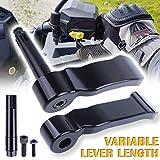 UNIGT Adjustable Thumb Throttle Lever Extender Replacement for Polaris Scrambler Sportsman 550/570/850/1000 2009-2019 Aluminum #2010336/2010359