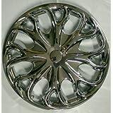"""14"""" Automobile Wheel Cover Hubcap 4 Piece Set Chrome Finish"""