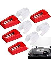 4 stuks draaitafel naald, draaitafel reservenaald diamant stylus vervanging voor platenspeler phonograaf vinyl platenspeler
