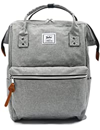 Oflamn Doctor Style Canvas Multipurpose Casual Daypack Laptop Backpack Travel Bag for Men and Women (2.0 Grey)