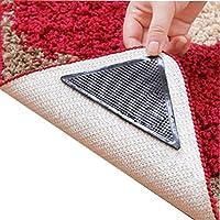 Patgoal 4pcs Anti Slip Coner Rubber Mat Trangle Non Slip Carpet Skid Grippers