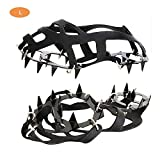 Walk Traction Cleats,Anti Slip Crampon 18 Teeth Silicone Snow Shoe Ice Cleats Grips Traction Crampon for Outdoor Walking Climbing Snowfield Mountaineering Fishing By Aolvo