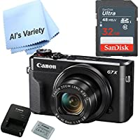 Canon G7X Mark II Digital Camera - Wi-Fi & NFC Enabled (Black) with Free SanDisk Ultra 32GB SDHC Class 10 Card