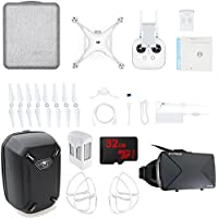DJI Phantom 4 Pro+ Quadcopter Drone w/ Controller - Bundle Includes Hardshell Backpack, Intelligent Flight Battery, 4 Propeller Guards, 32GB MicroSD Memory Card & VR Vue Virtual Reality Viewer