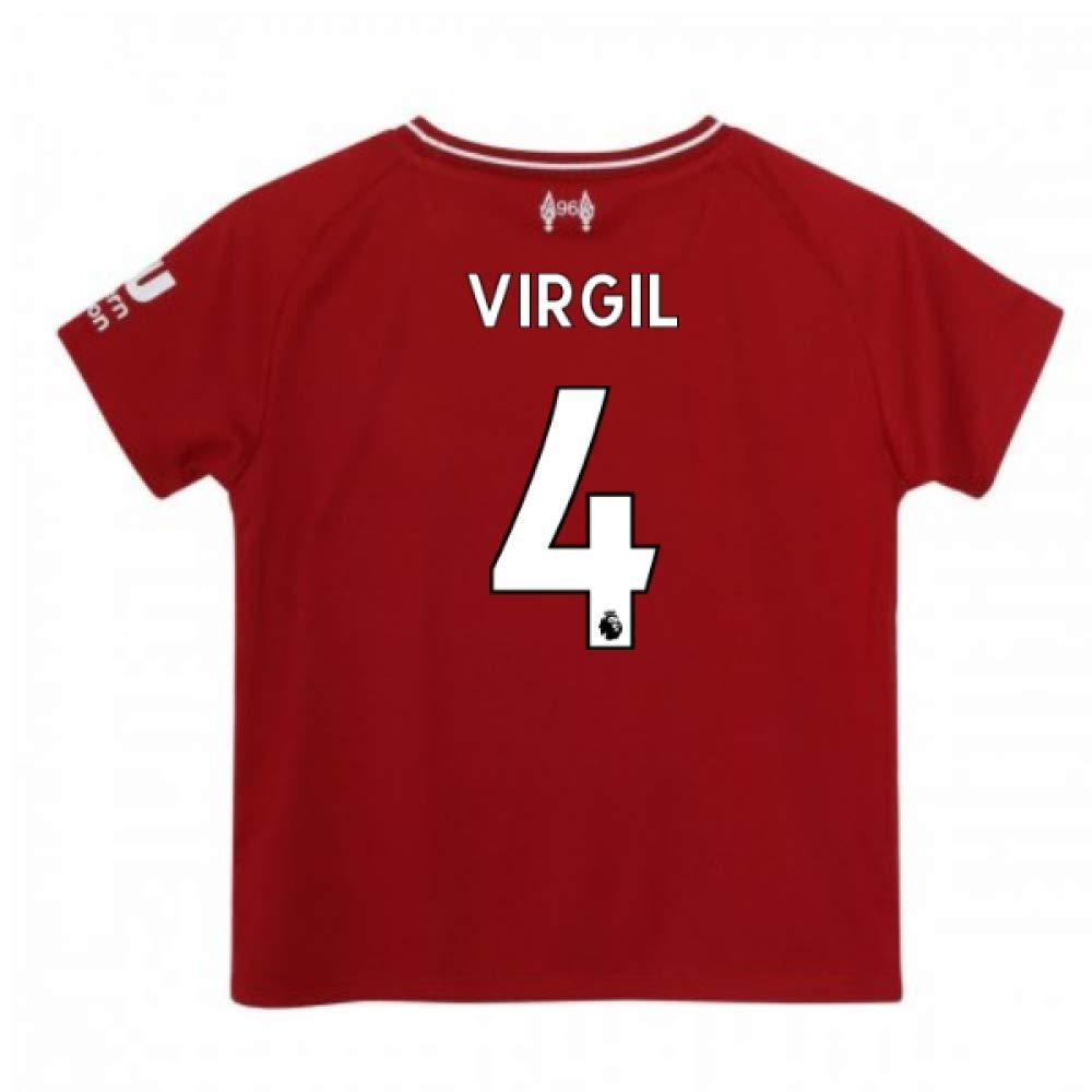 UKSoccershop 2018-2019 Liverpool Home Baby Kit (Virgil Van Dijk 4)