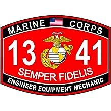 "USMC MOS 1341 Engineer Equipment Mechanic Decal 5.5"""