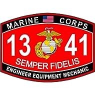 USMC MOS 1341 Engineer Equipment Mechanic Decal 5.5