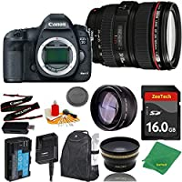 Great Value Bundle for 5D MARK III DSLR – 24-105MM L + 16GB Memory + Wide Angle + Telephoto Lens + Backpack