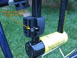 kryptonite 997986 18mm new york fahgettaboudit u lock black mini bike u locks. Black Bedroom Furniture Sets. Home Design Ideas