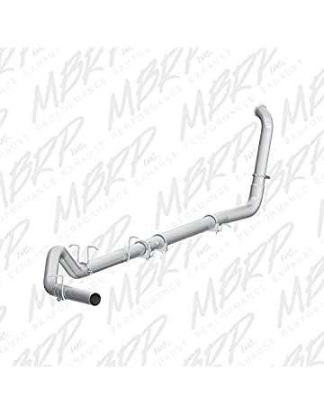 amazon exhaust system performance parts accessories Avalanche Crew Cab mbrp s6212plm turbo back single side off road exhaust system