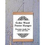 Cedar Wood Poster Hanger, Custom size Art Hanger, poster frame, picture hanger, Natural Cedar Wood, Handmade Frame