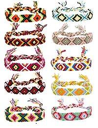 Thunaraz Friendship Bracelets for Men Women Handmade Boho Woven Strand Thread for Hair Ponytail