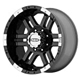 "Moto Metal MO951 Gloss Black Wheel With Machined Face (17x9""/8x165.1mm, -12mm offset)"
