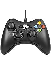 Justdodo Manette Filaire contrôleur Xbox 360 de Jeu Xbox et PC avec Vibrations Manette Filaire Gamepad Controller contrôleur de Jeu,Android TV et PC avec Vibrations