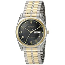 Armitron Men's 201143 Easy to Read Round Two-Tone with a Black Dial Expansion Band Watch