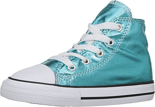 2e5fbc69498c ... uk galleon converse kids chuck taylor all star hi metallic shoes fresh  cyan black white boys
