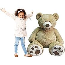"Giant 53"" Luxury Plush Extra Large Teddy Bear - Light Golden Brown/Sandy by Hugfun"
