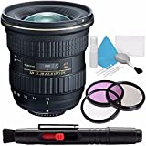 Tokina AT-X 11-20mm f/2.8 PRO DX Lens for Nikon F (International Model) No Warranty + Deluxe Cleaning Kit + 82mm 3 Piece Filter Kit Bundle 4