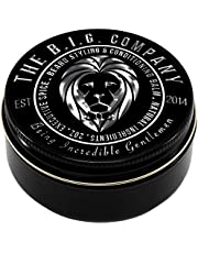 Beard Balm for Men - the B.I.G. Company Medium Hold Beard Wax for Styling - Non Greasy - Deep Beard Conditioner - Promotes Beard Growth and Shine - Stop Beard Itch and Flakes - Get Beard Hacks Bible