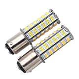 GRV Ba15d 1076 1142 1176 LED bulb 126 * 3014 SMD AC/DC 11-28V 4W High Bright Warm White Pack of 2