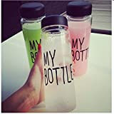 Elegiant Fashional Portable Environmental Clear My Bottle Outdoor Bicycle Sport Plastic Fruit Juice Water Bottle Cup