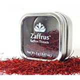 Zaffrus - Premium All Red Saffron Threads for Cooking Saffron Rice, Risotto, Paella, Persian Tahdig, Desserts, Tea, Golden Milk - Persian Negin Style (2 Grams / .07 oz)
