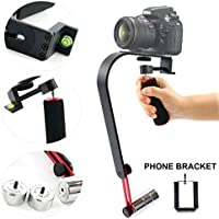 Yaetek Steady Video Action Camera Stabilizer System for GoPro HERO,Small SLRs,Cameras,Camcorders,Smartphones,iPhone,includes: 1 Bow Arch Handheld Stabilizer 1 Mount Adapter for GoPro 1 Phone Holder