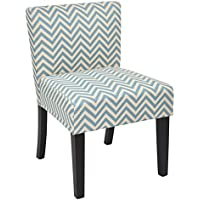Office Star Bristol Fabric Accent Chair with Solid Wood Legs, Ziggi Mist