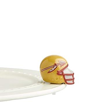 Nora Fleming Hand-Painted Mini: Florida State Helmet (Florida State University Football Helmet) A309