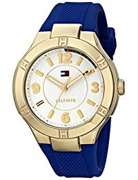 Tommy Hilfiger Women's 1781443 Gold-Tone Watch with Blue Band