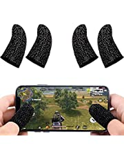 NW 1776 Mobile Game Controller Finger Sleeve Sets [4 Pack], Anti-Sweat Breathable Full Touch Screen Sensitive Shoot Aim Joysticks Finger Set for PUBG/Knives Out/Rules of Survival…