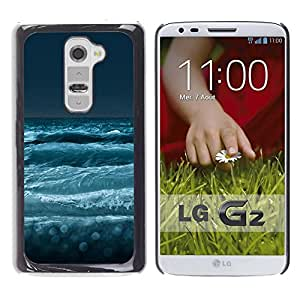 PC/Aluminum Funda Carcasa protectora para LG G2 D800 D802 D802TA D803 VS980 LS980 Nature Sea Waves / JUSTGO PHONE PROTECTOR