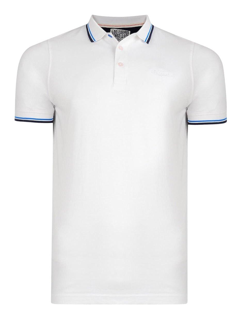 Lee Cooper Camisa Casual de lanridge algodón piqué Polo de Manga ...